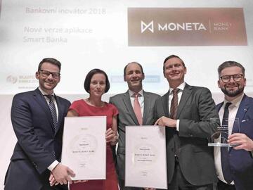 MONETA Money Bank zvolena veřejností Bankovním inovátorem 2018 v soutěži Nejlepší banka 2018