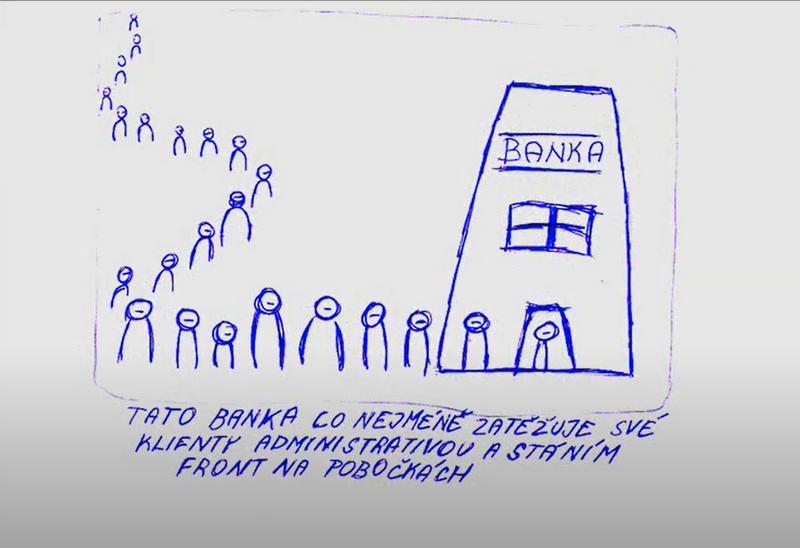Co má umět ideální banka? Ukazují obrázky studentů